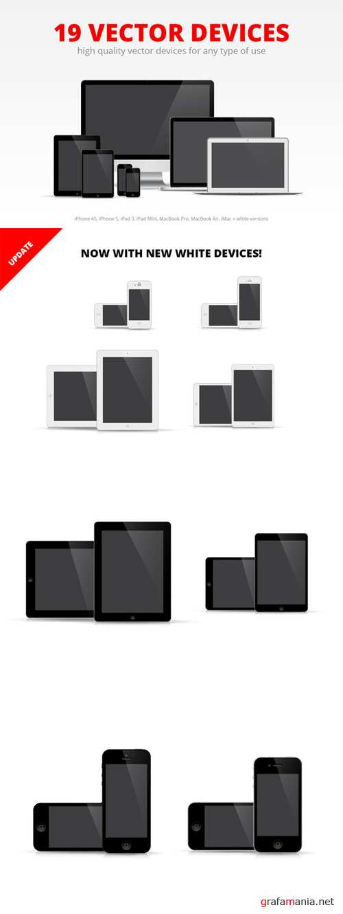 19 Devices Vector Set