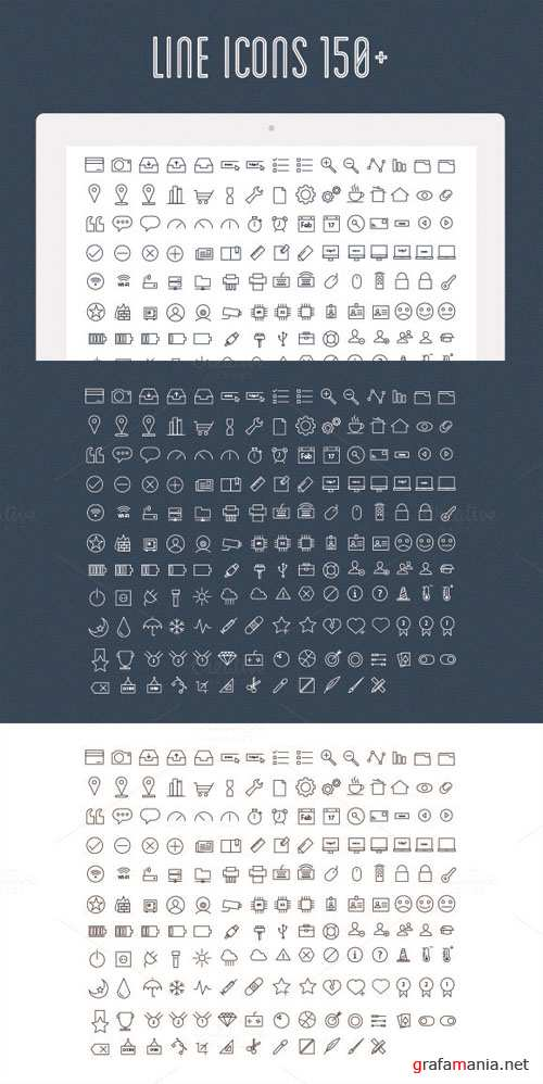 Line Icons Vector Set