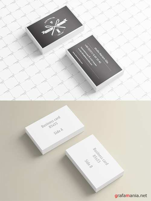 Mock-up Template PSD - Business Card Presentation