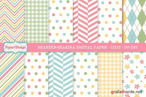 Shareen-Shakira Digital Paper Set