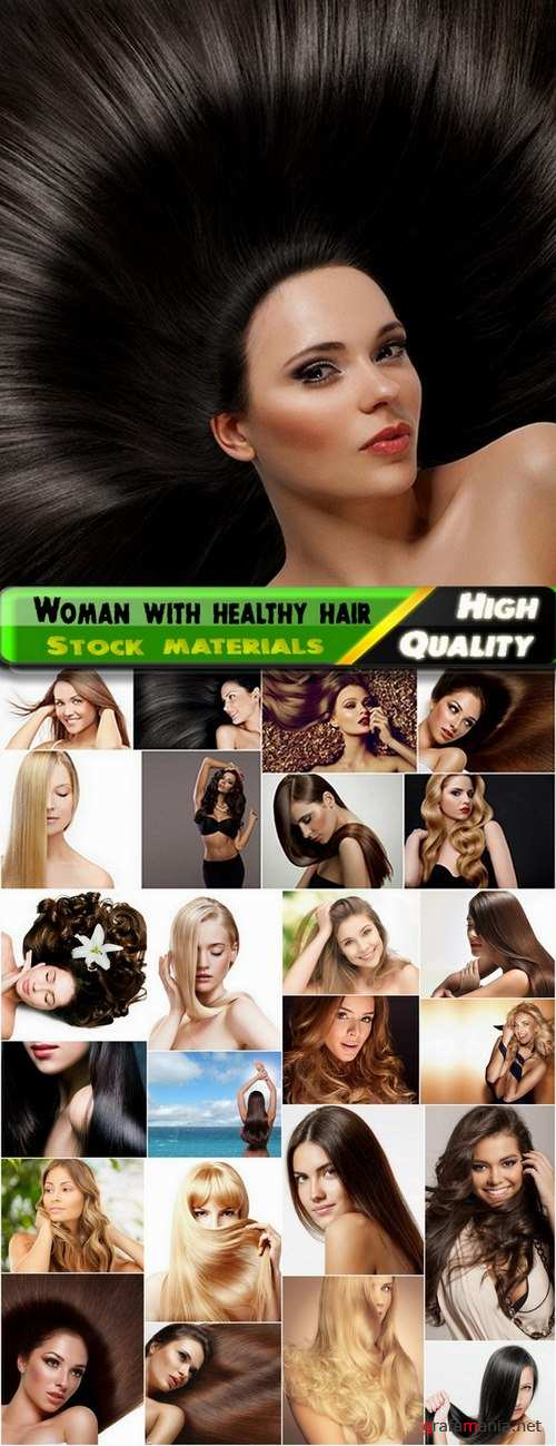 Beauty and woman with healthy hair Stock images - 25 HQ Jpg