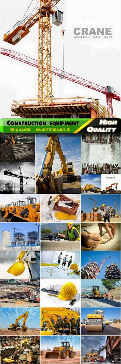 Construction equipment and construction sites Stock images - 25 HQ Jpg