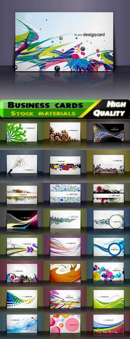 Business cards Template design in vector from stock #12 - 25 Eps