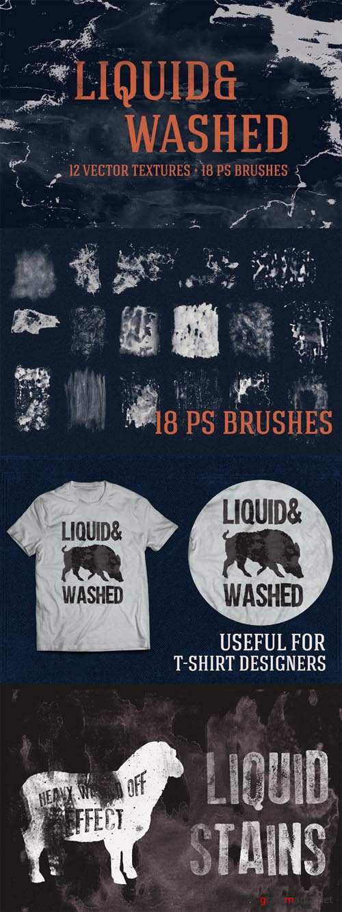 Liquid and Washed Textures