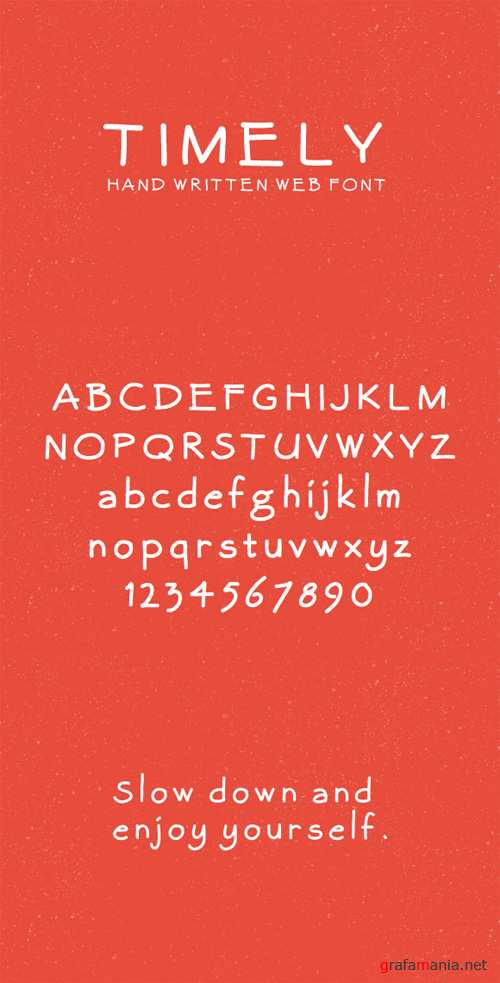 Hand Written Font - Timely
