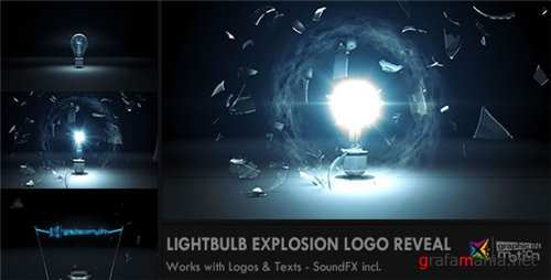 Light Bulb Explosion Logo Reveal - After Effects Project (Videohive)