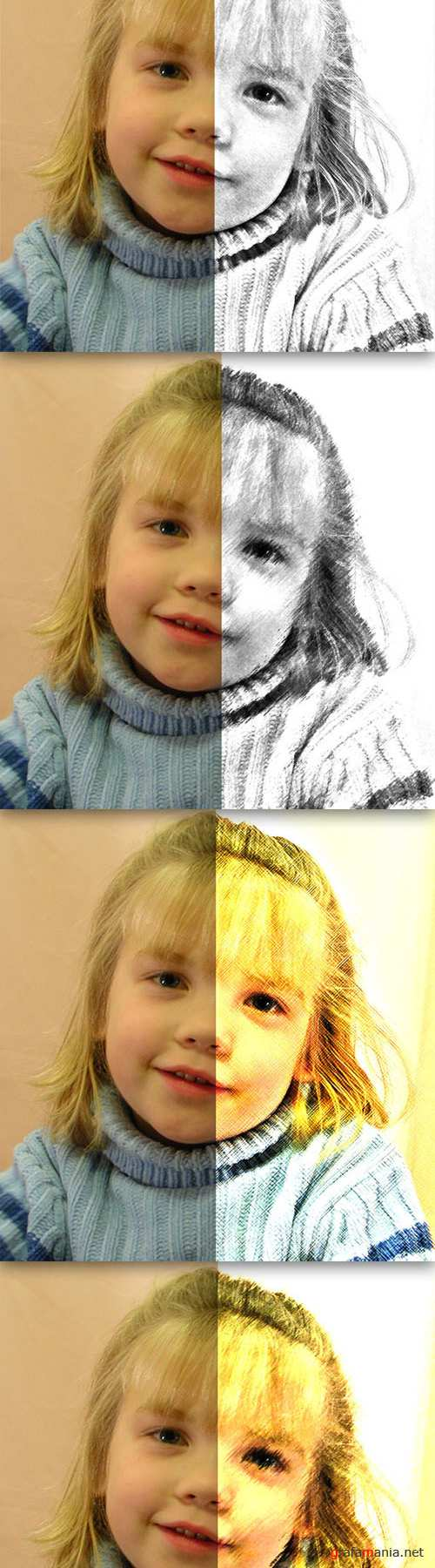 Photo Drawing Photoshop Actions