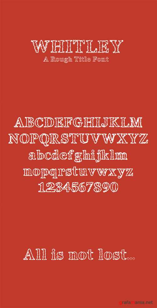 Title Font - Whitely Scribble