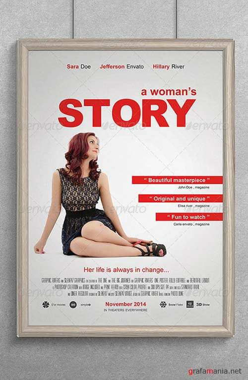 GraphicRiver A Womans Story Movie Poster
