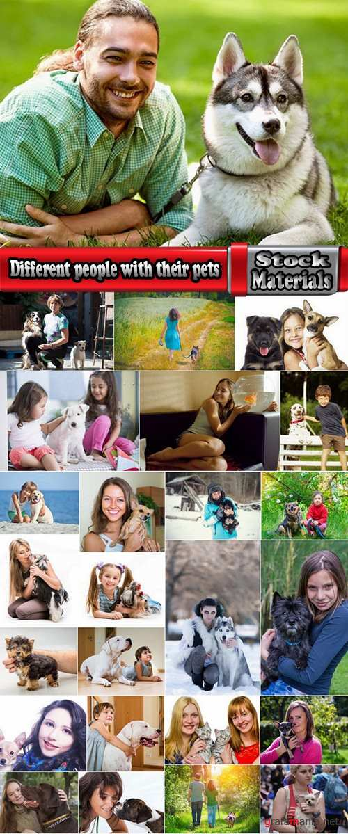 Different people with their pets 25 UHQ Jpeg
