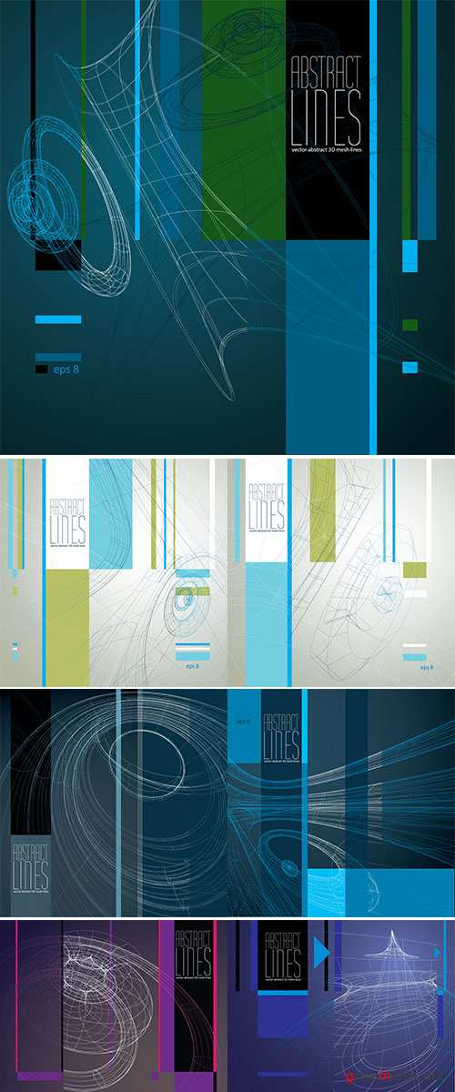 Stock vector Abstract background, 3D abstract lines vector illustration