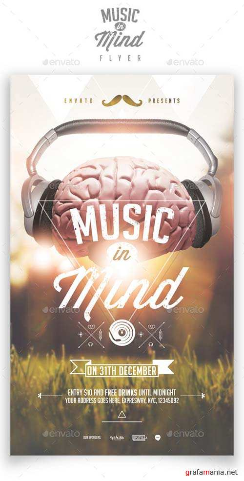 GraphicRiver Music in Mind Flyer Template