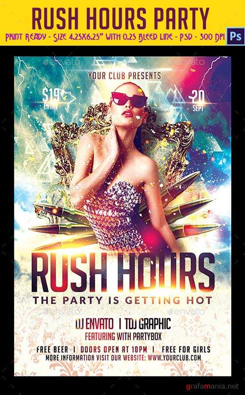 GraphicRiver Rush Hours Party Flyer
