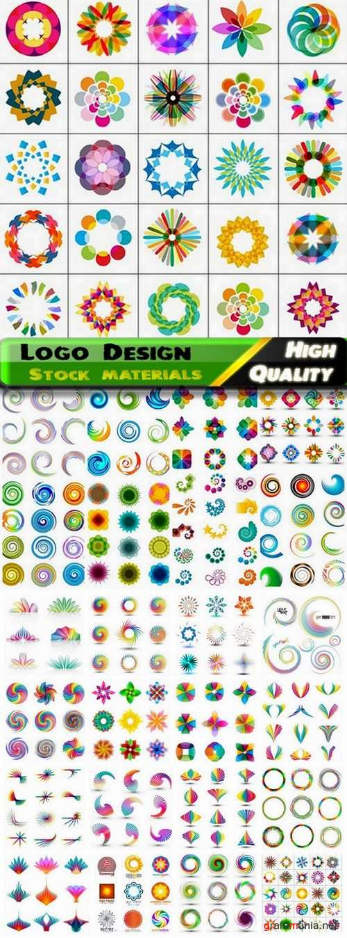 Logo Design in vector Set from stock #36 -  25 Eps