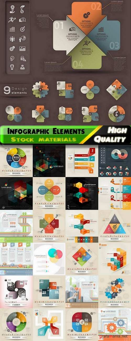 Infographic Design Elements in vector set from stock #84 - 25 Eps