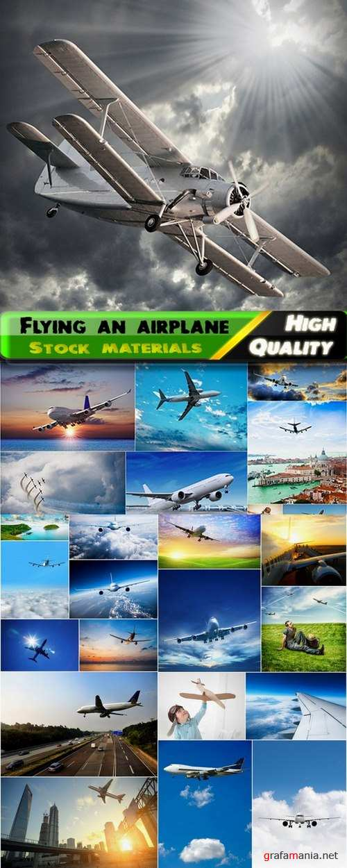 An airplane flying in the clouds Stock images - 25 HQ Jpg