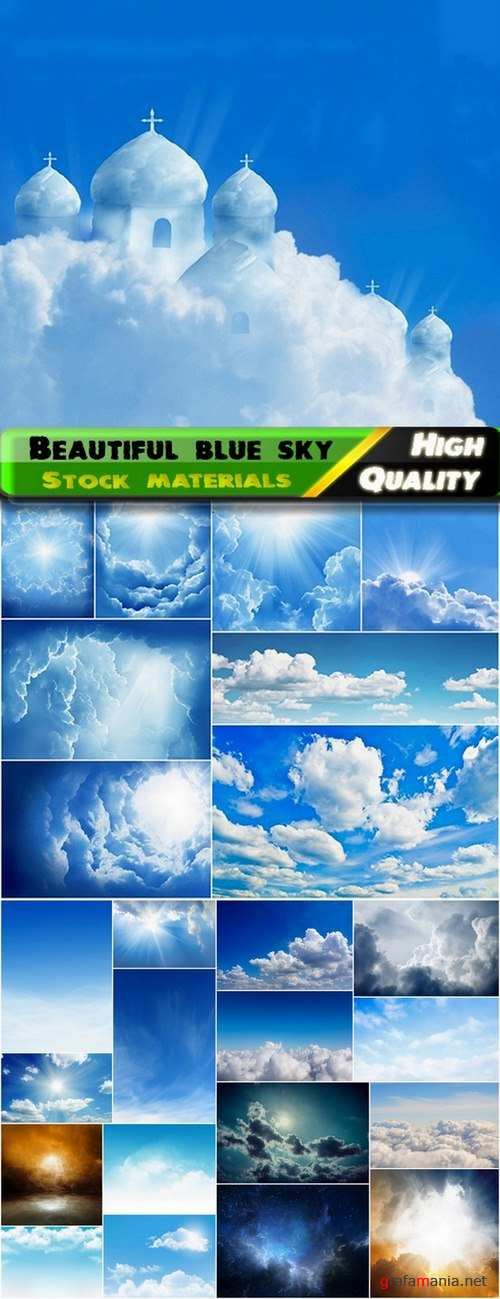 Beautiful blue sky and clouds Stock images - 25 HQ Jpg