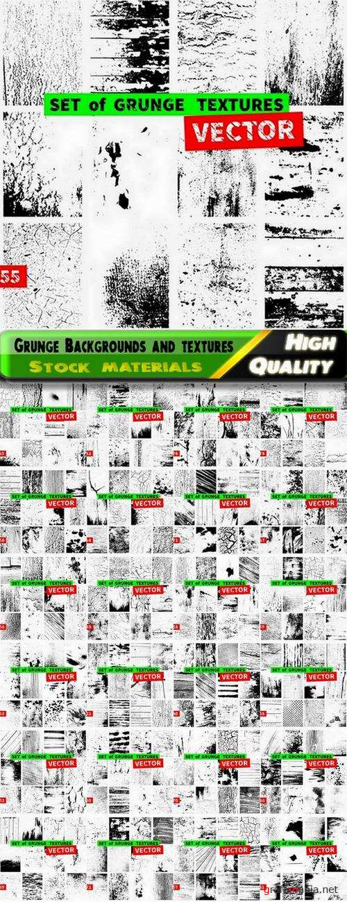 Big set of Grunge Backgrounds and textures - 25 Eps
