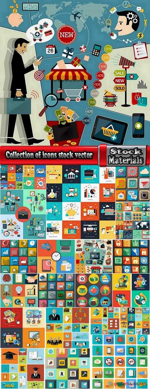 Collection of icons stock vector 22 Eps