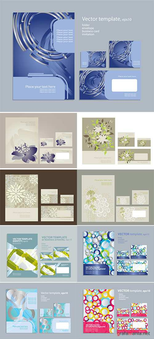 Stock: Vector template for business artworks