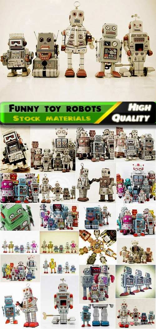 Funny toy robots Stock images - 25 HQ Jpg