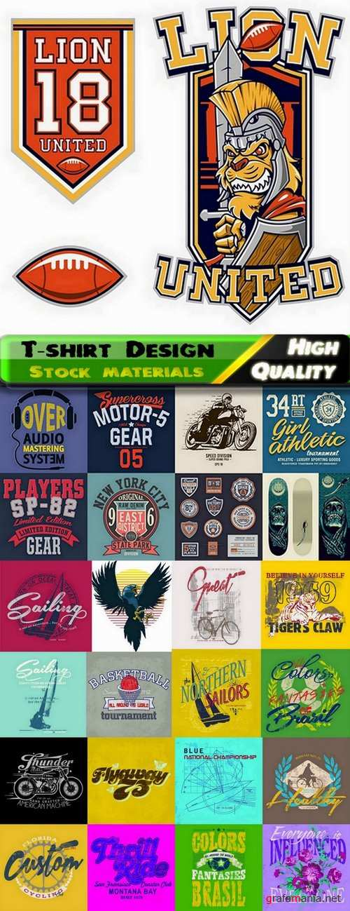 T-shirt Design elements in vector from stock #39 - 25 Eps