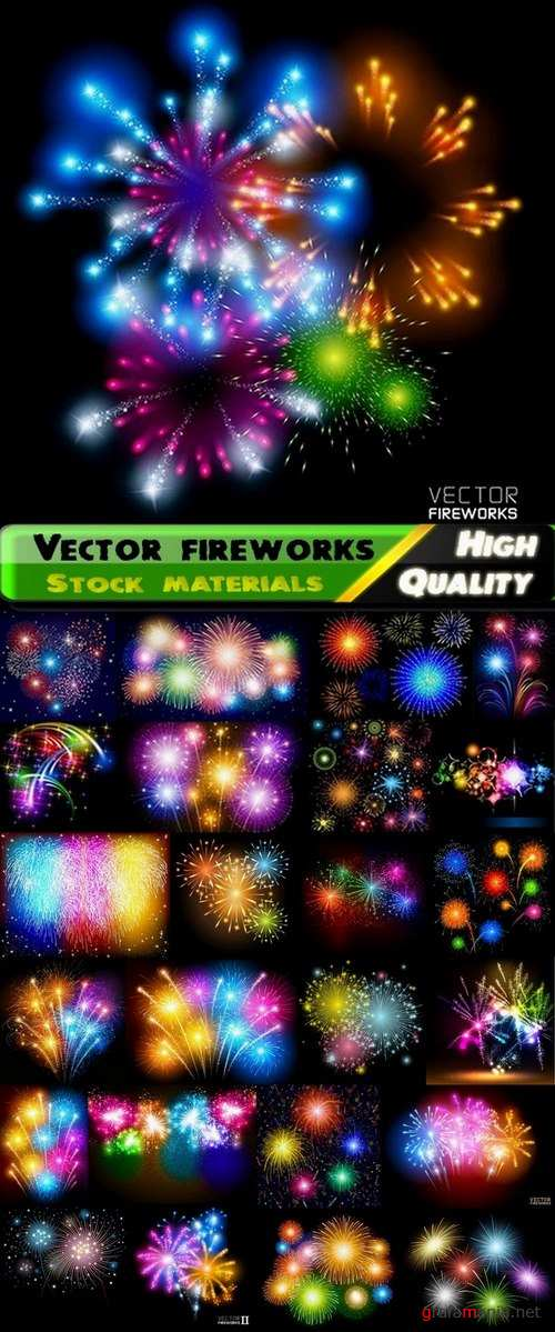 Vector fireworks and light effects from stock - 25 Eps