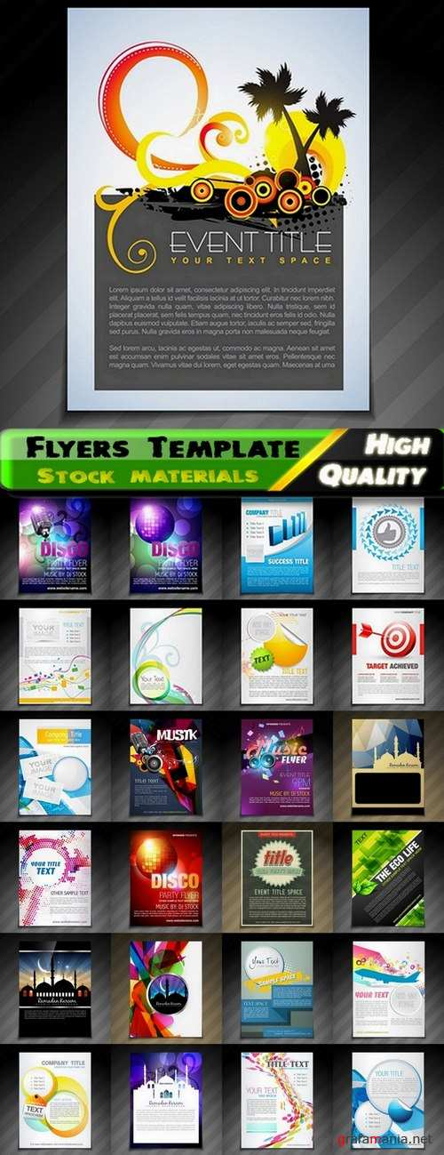 Flyers Template design Collection in vector from stock #36 - 25 Eps