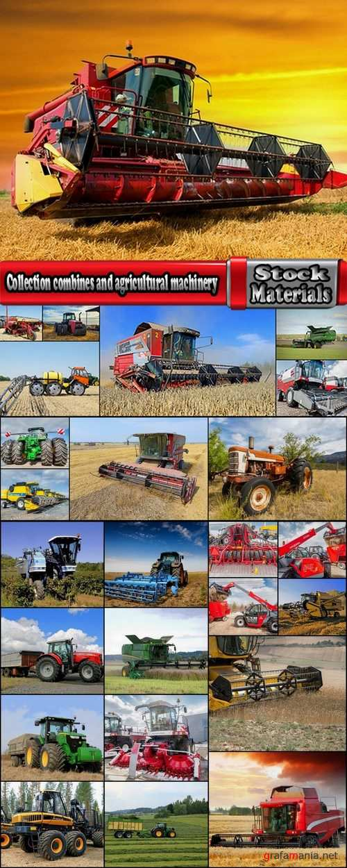Collection combines and agricultural machinery 25 UHQ Jpeg