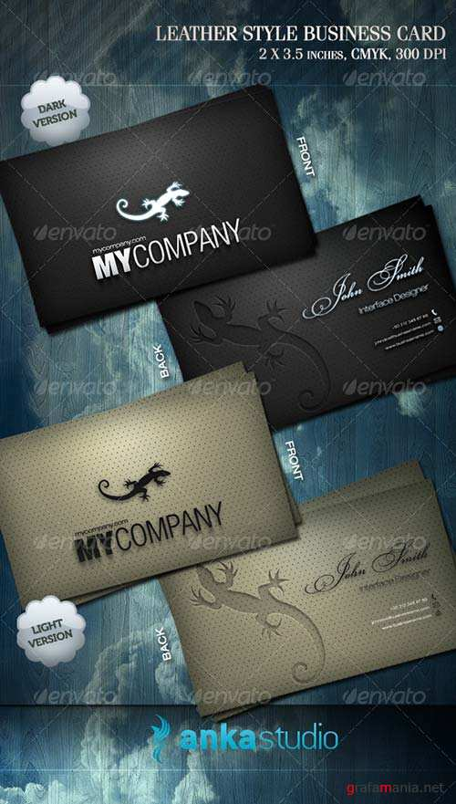 GraphicRiver Leather Style Business Card