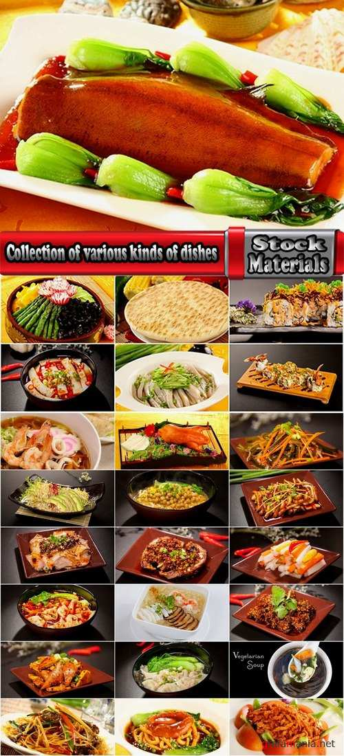 Collection of various kinds of dishes for restaurants 25 UHQ Jpeg