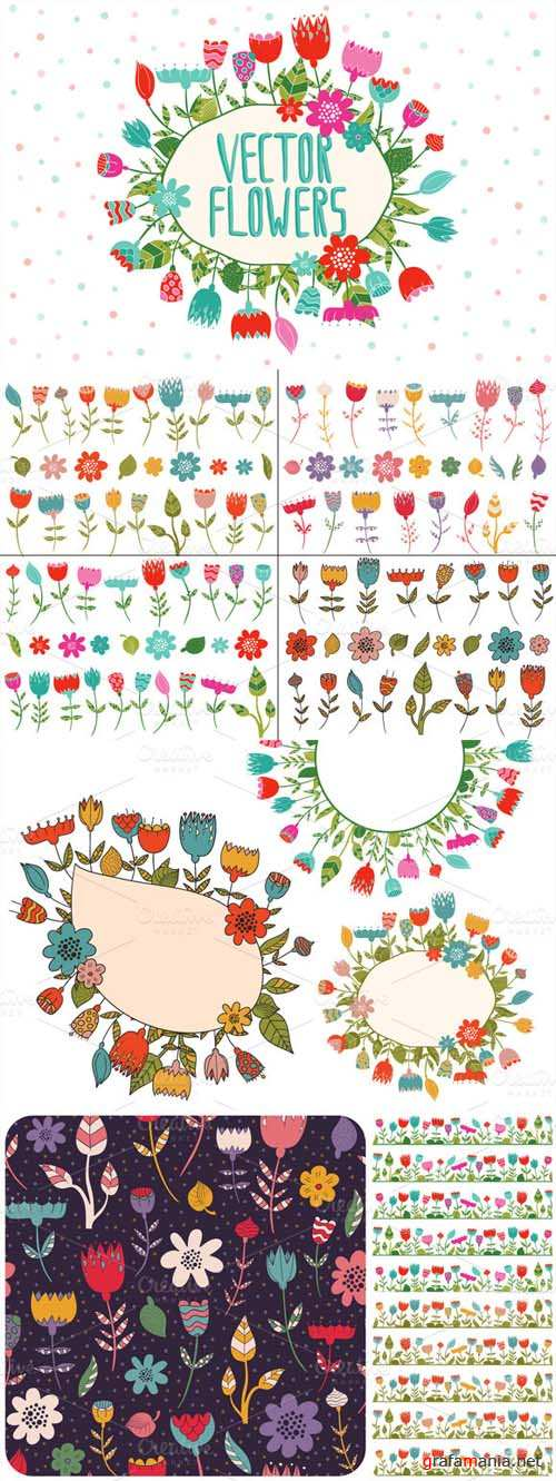 Vector Flowers Kit