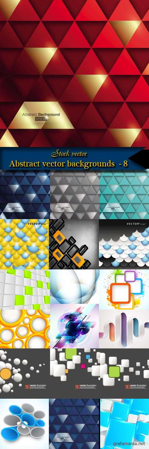 Abstract vector backgrounds  - 8