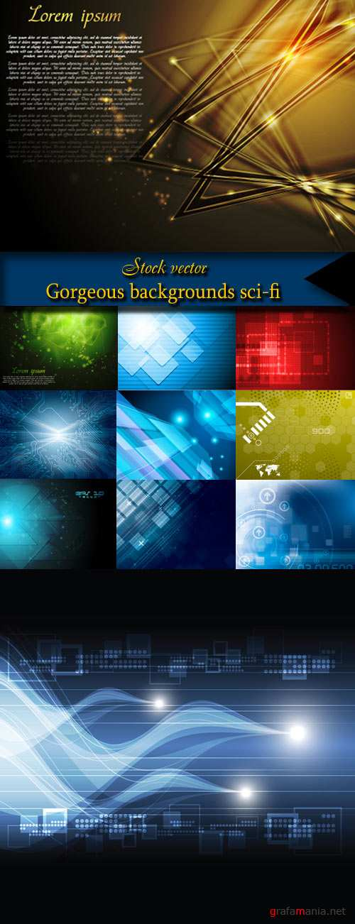 Gorgeous backgrounds sci-fi