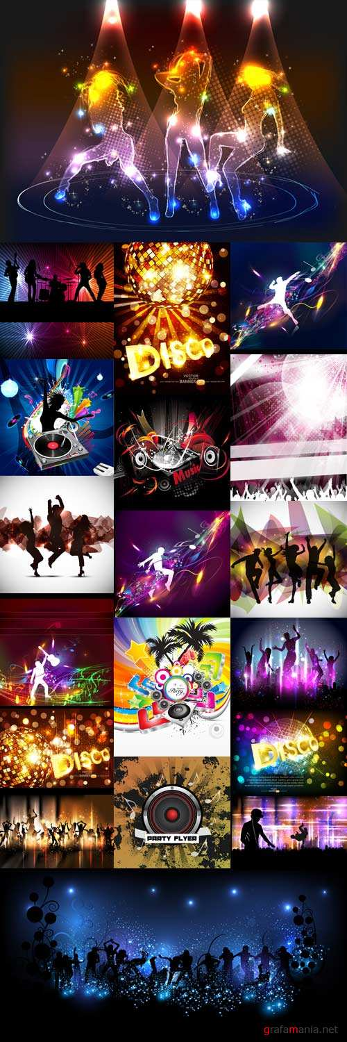Music dance disco posters
