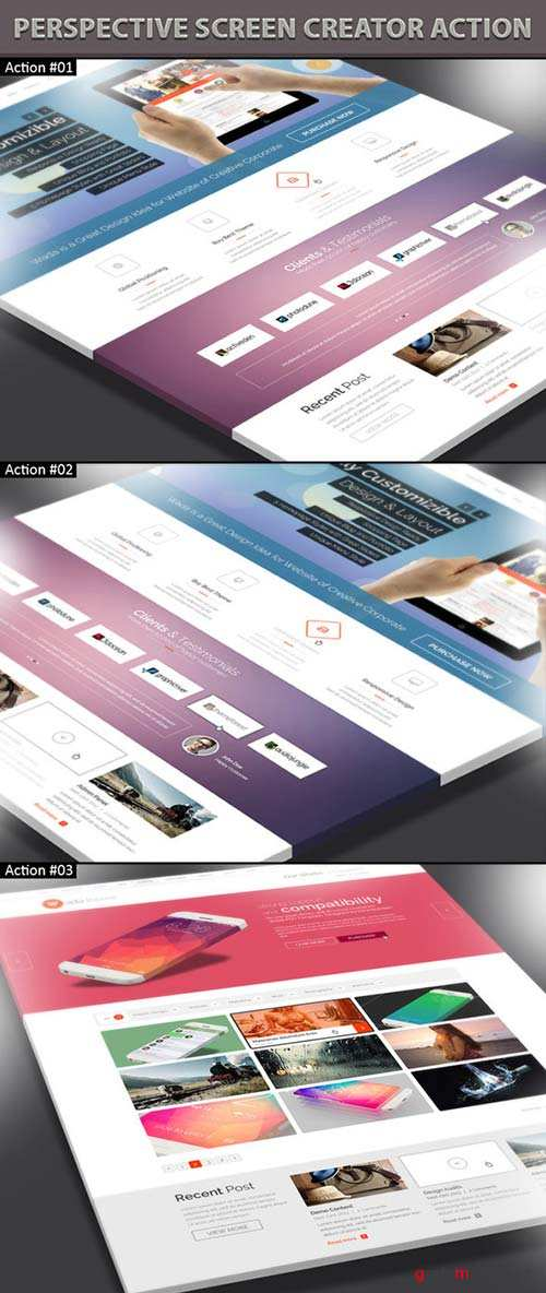 GraphicRiver Perspective Screen Creator Action