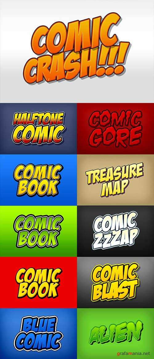GraphicRiver Comic Book and Cartoon Photoshop Styles Pack
