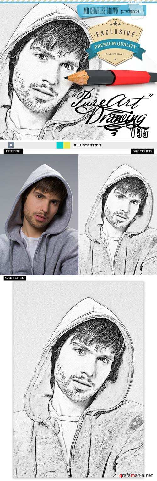 GraphicRiver Pure Art Hand Drawing 95 - Police Suspect Sketch
