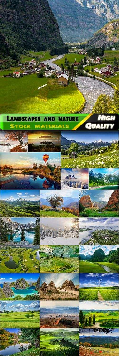 Beautiful landscapes and nature Stock images - 25 HQ Jpg