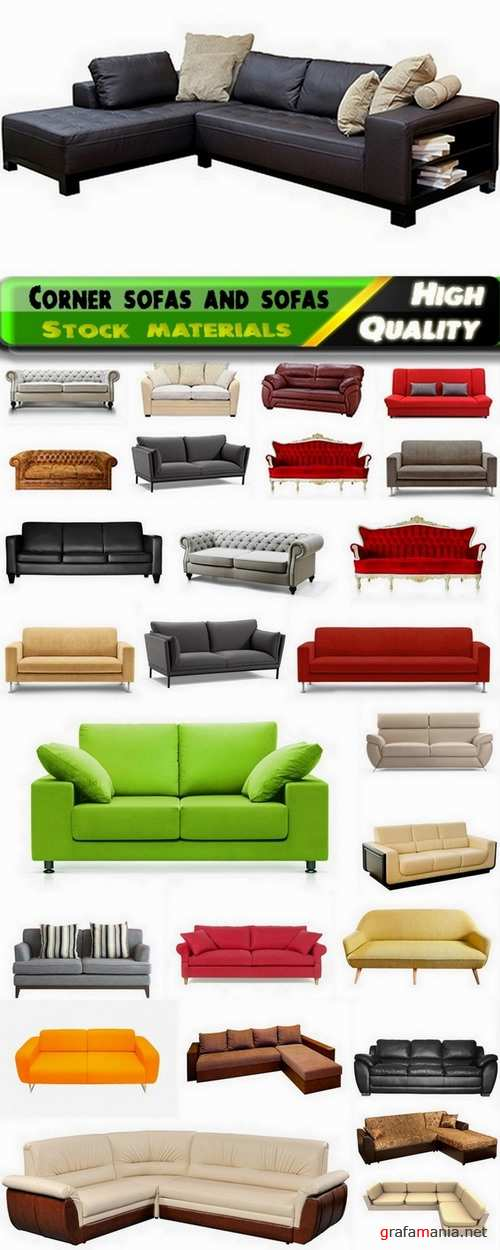 Corner sofas and sofas isolated Stock images - 25 HQ Jpg