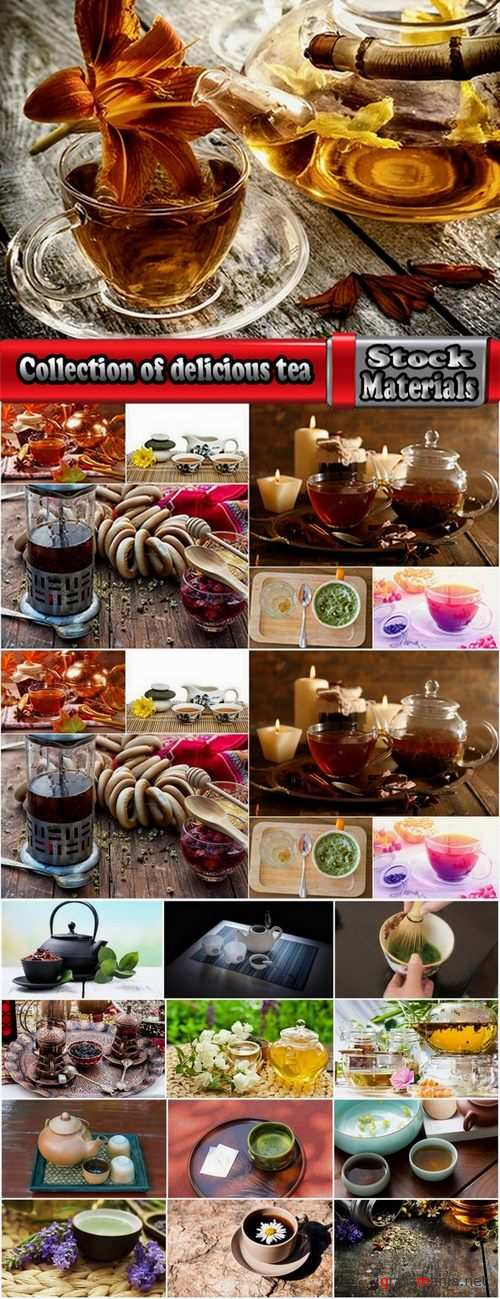 Collection of delicious tea from around the world 25 UHQ Jpeg