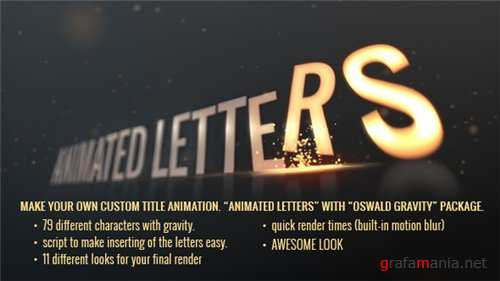 Animated Letters - Oswald Gravity Package - After Effects Project (Videohive)