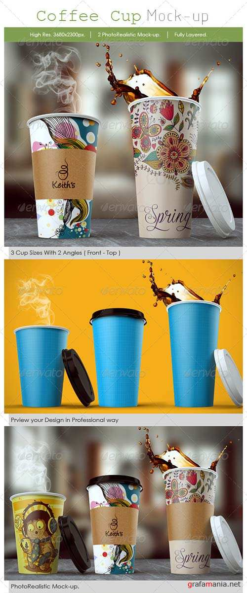 GraphicRiver Coffee Cup Mockup 8576094