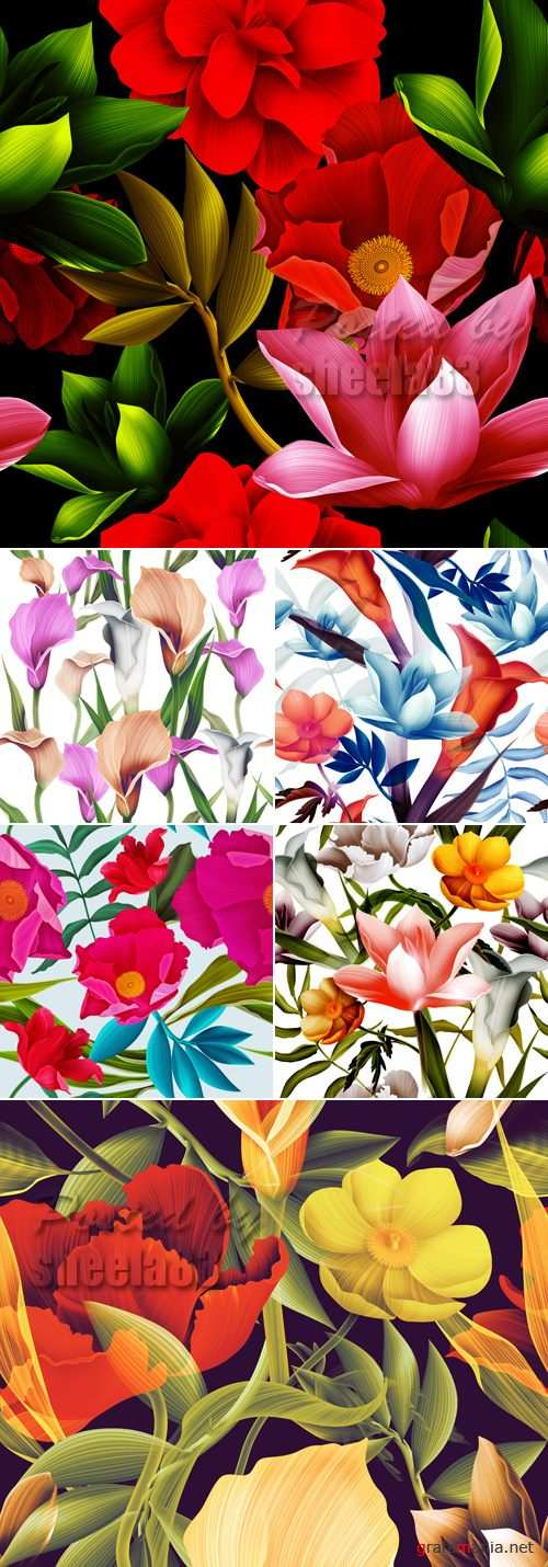 Stock Photo - Flowers Patterns