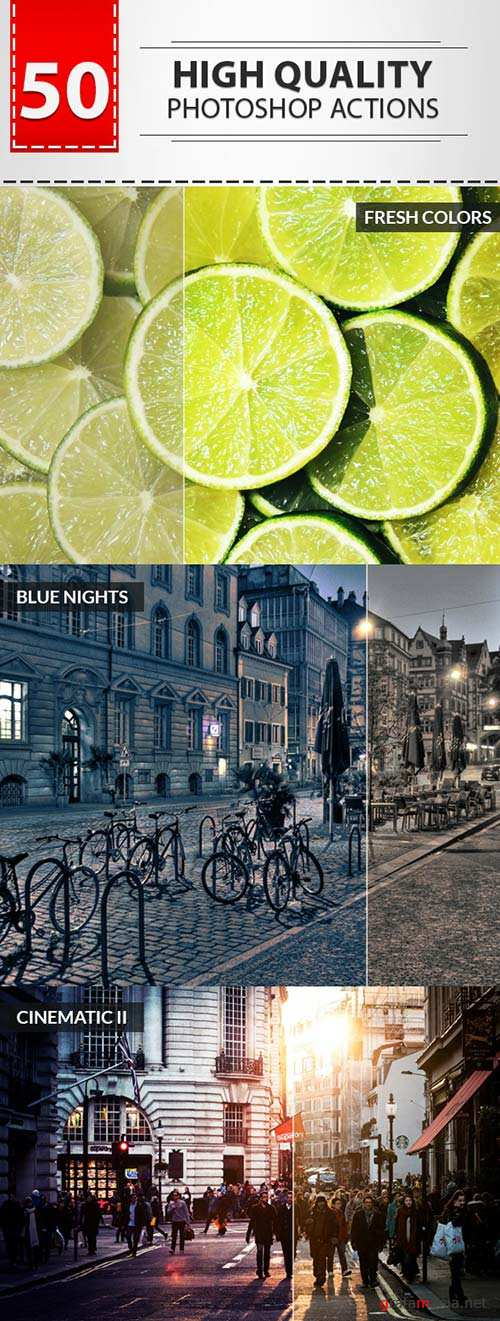 GraphicRiver 50 High Quality Actions Set