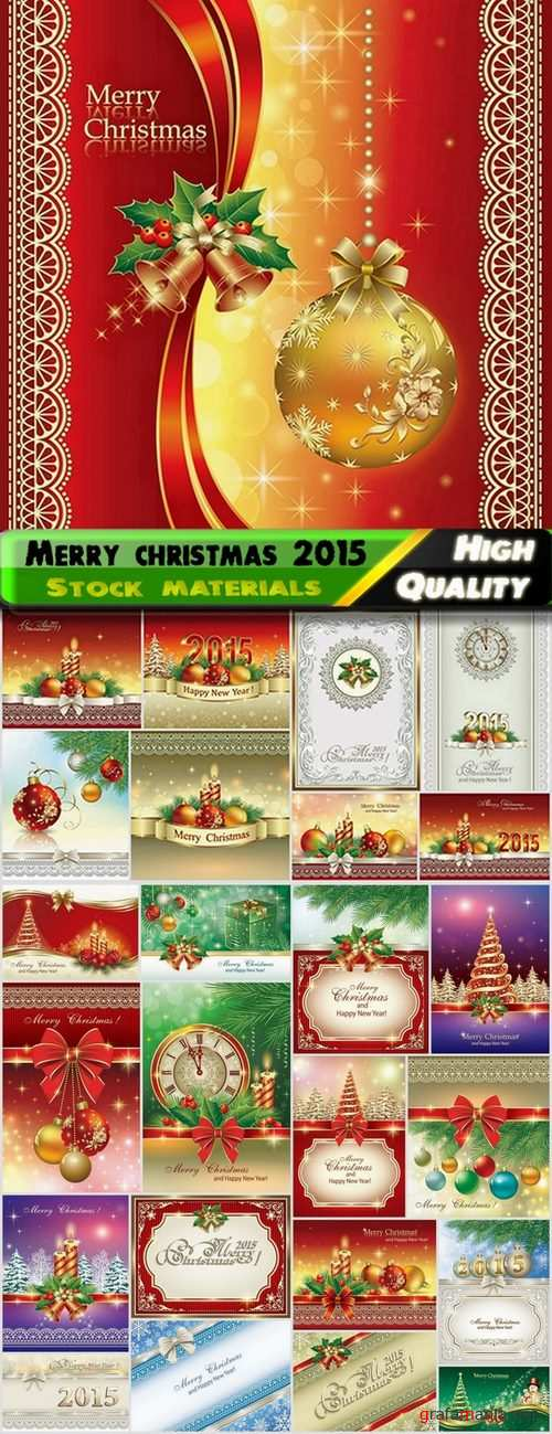 Merry christmas holiday 2015 elements in vector - 25 Ai