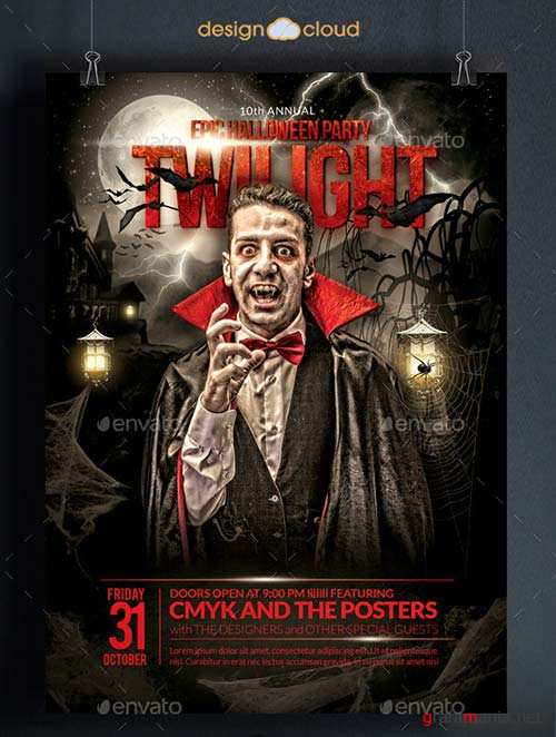 GraphicRiver The Epic Twilight Halloween Party Flyer Template