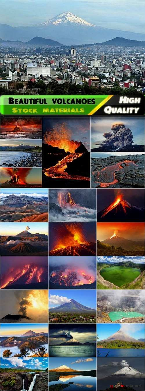 Beautiful volcanoes of the world Stock images - 25 HQ Jpg