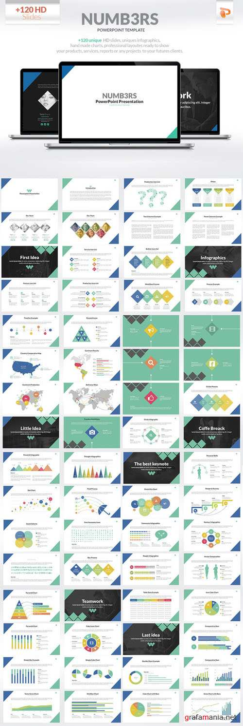CreativeMarket - Numbers | Powerpoint Presentation 88042