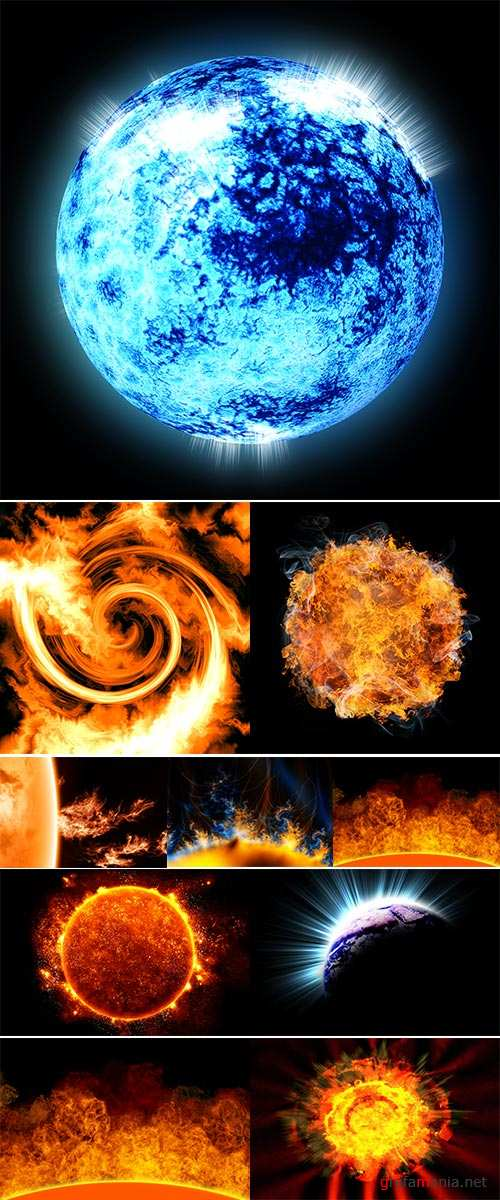 Stock Photos Science background,  solar activity in space